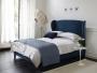 Łóżko stylizowane, wysokie wezgłowie materac 160/200 Frou Frou