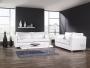 Klasyczna i lekka sofa w białej skórze naturalnej NADIA