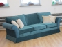 Duża stylizowana sofa nierozkładana do salonu Federica 285 cm stały pokrowiec