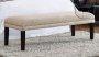 Ławka na wysokich nóżkach tapicerowane siedzisko Aurelia