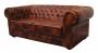 Sofa w angielskim stylu z funkcją spania skóra cieniowana Chesterfield Classic 232 cm
