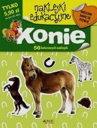 Konie naklejki edukacyjne