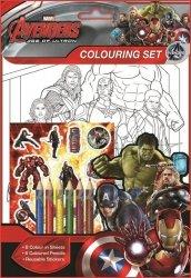 Zestaw kolorowanek z naklejkami i kredkami Avengers II