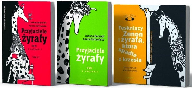 Przyjaciele żyrafy Bajki o empatii Tęskniący Zenon i żyrafa Tom 1,2,3