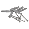 Winkelgriff 60/60 cm für barrierefreies Bad links/rechts montierbar weiß ⌀ 32 mm mit Abdeckrosetten