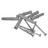 Stützgriff für barrierefreies Bad rechts montierbar 60 cm ⌀ 32 mm mit Abdeckrosetten