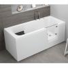 Badewanne für barrierefreies Bad mit Tür rechts und integrierter abnehmbarer Sitzbank für Senioren VOVO 180 cm