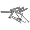 Gerader Handlauf für barrierefreies Bad 120 cm aus rostfreiem Edelstahl ⌀ 25 mm