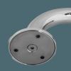 Handlauf für barrierefreies Bad 110 cm aus rostfreiem Edelstahl ⌀ 32 mm mit Abdeckrosetten