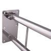 WC - Klappgriff für barrierefreies Bad mit Stützbein 60cm aus rostfreiem Edelstahl ⌀ 32 mm