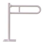 WC Klappgriff für barrierefreies Bad freistehend weiß 70 cm ⌀ 32 mm