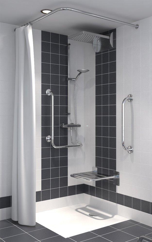 duschvorhang f r dusche oder badewanne 180 x 200 cm beste. Black Bedroom Furniture Sets. Home Design Ideas