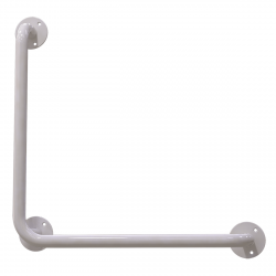 Winkelgriff 50/50 cm für barrierefreies Bad links/rechts montierbar weiß ⌀ 25 mm