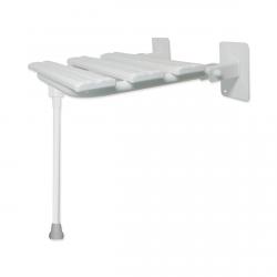 Duschklappsitz mit Stützbein für barrierefreies Bad