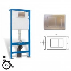 WC Vorwandelement mit Unterputz-Spülkasten