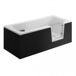 Seitenpaneel für AVO / VOVO Badewanne 170 cm schwarz