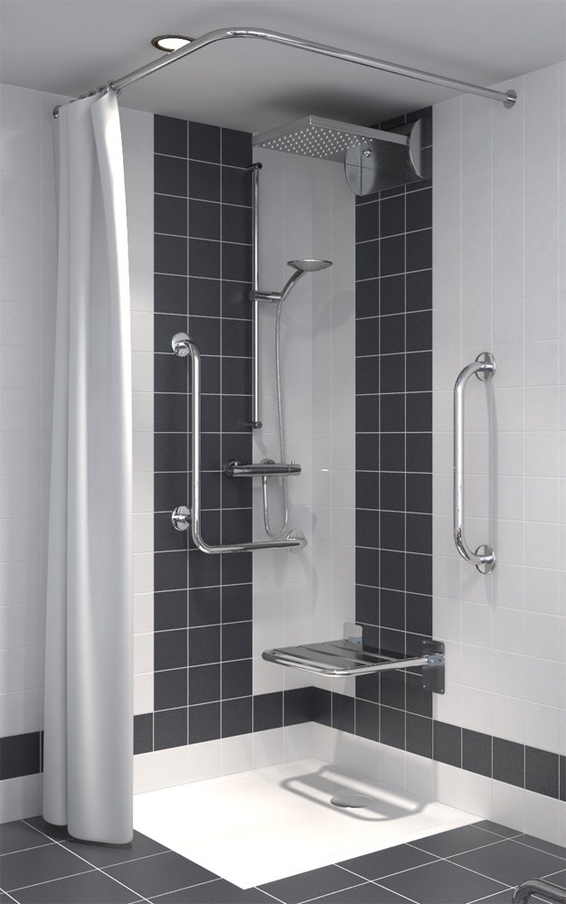 Duschvorhang für Dusche oder Badewanne 180 x 200 cm