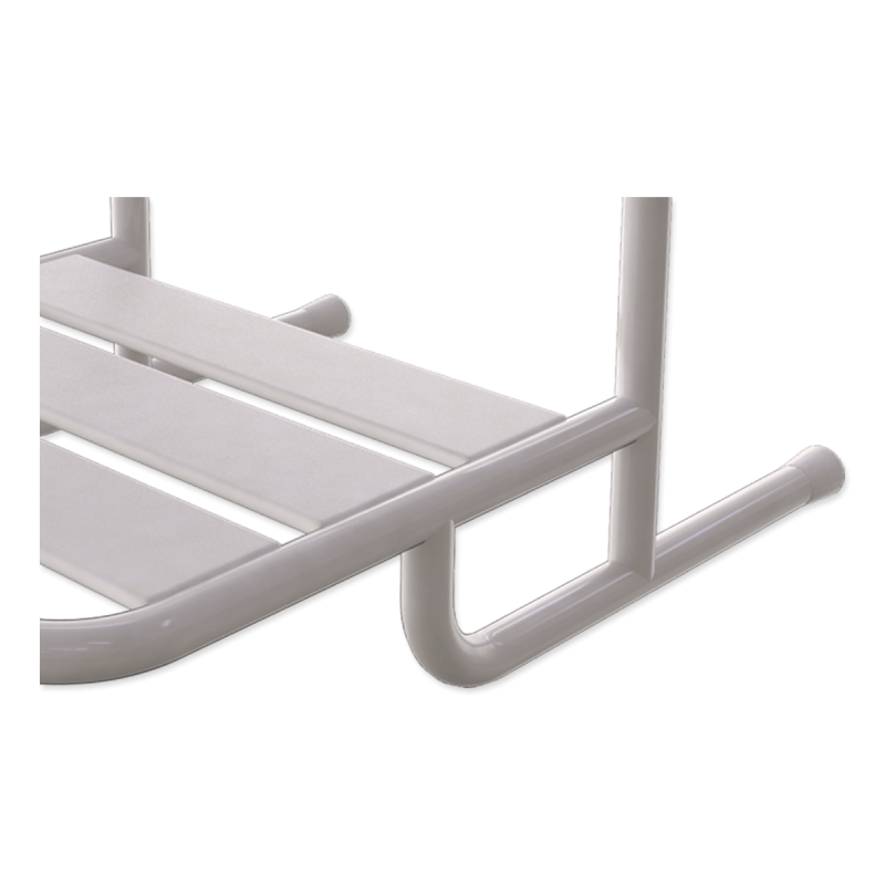 Duschsitz zum Einhängen mit Wandstützen für barrierefreies Bad