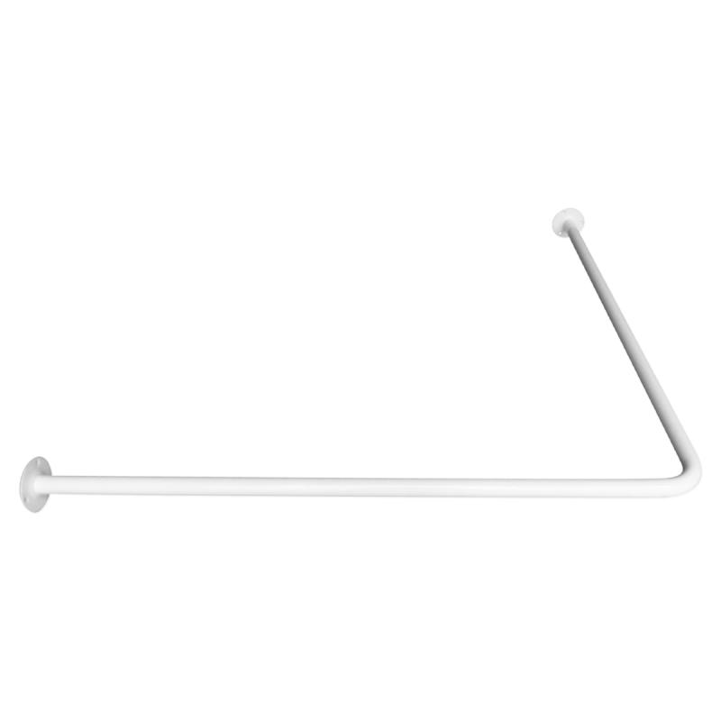 Winkelförmige Duschvorhangstange 80 x 80 cm