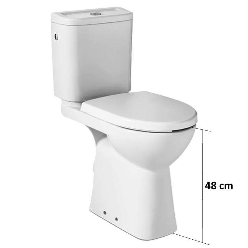 Stand WC für barrierefreies Bad mit Befestigungsmaterial