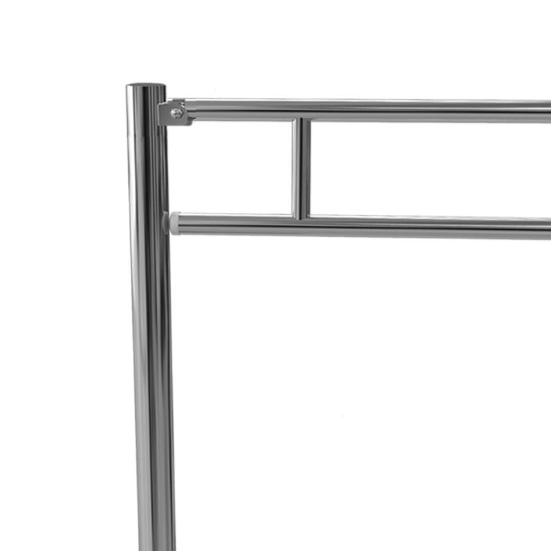 WC Klappgriff für barrierefreies Bad zur Bodenmontage 85cm aus rostfreiem Edelstahl ⌀ 32 mit Abdeckplatten