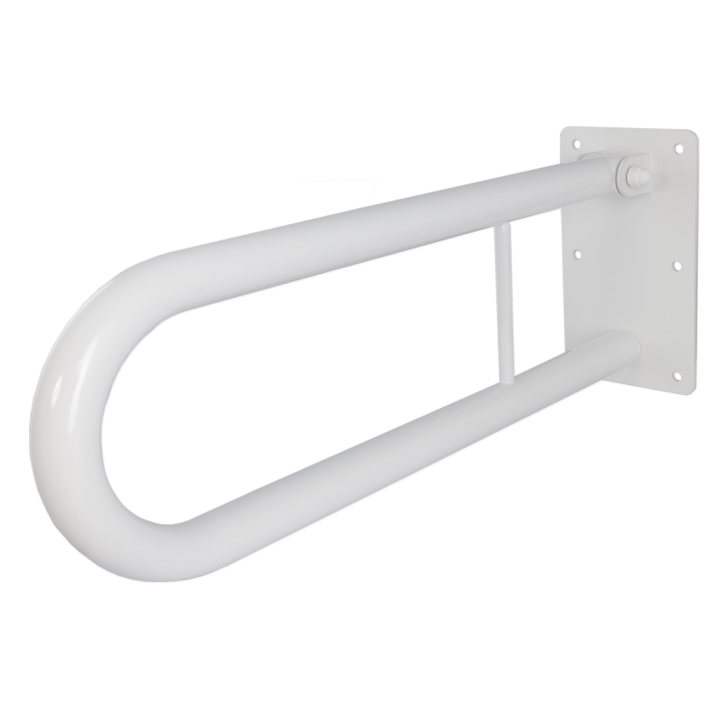 Klappgriff am Waschbecken für barrierefreies Bad weiß 50 cm ⌀ 32 mm
