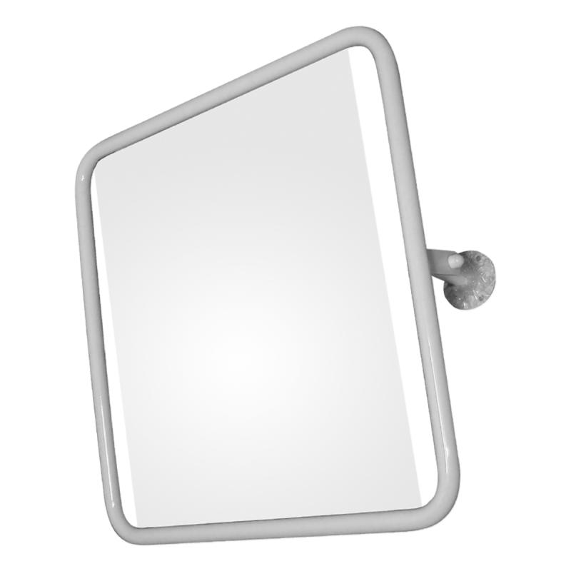 Kippspiegel für barrierefreies Bad im pulverbeschichtetem Stahlrahmen 60 x 60 cm