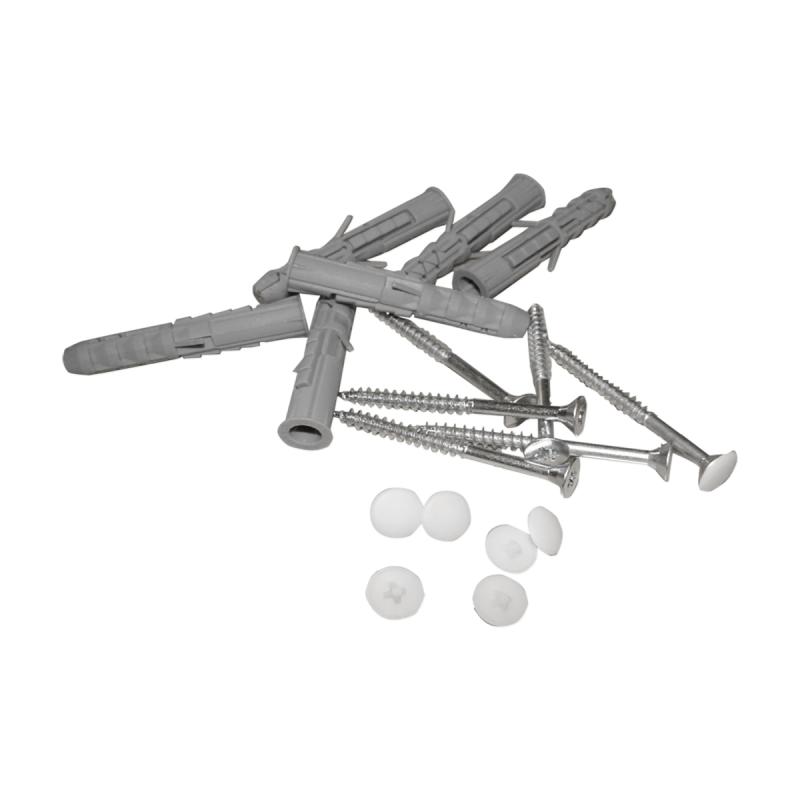 Handlauf für barrierefreies Bad 150 cm weiß ⌀ 32 mm