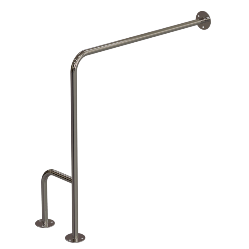 WC-Stützgriff für barrierefreies Bad rechts montierbar 70 cm aus rostfreiem Edelstahl ⌀ 25 mm