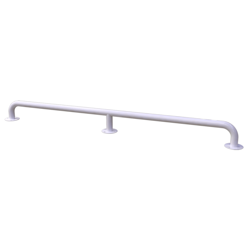Handlauf für barrierefreies Bad 170 cm weiß ⌀ 32 mm