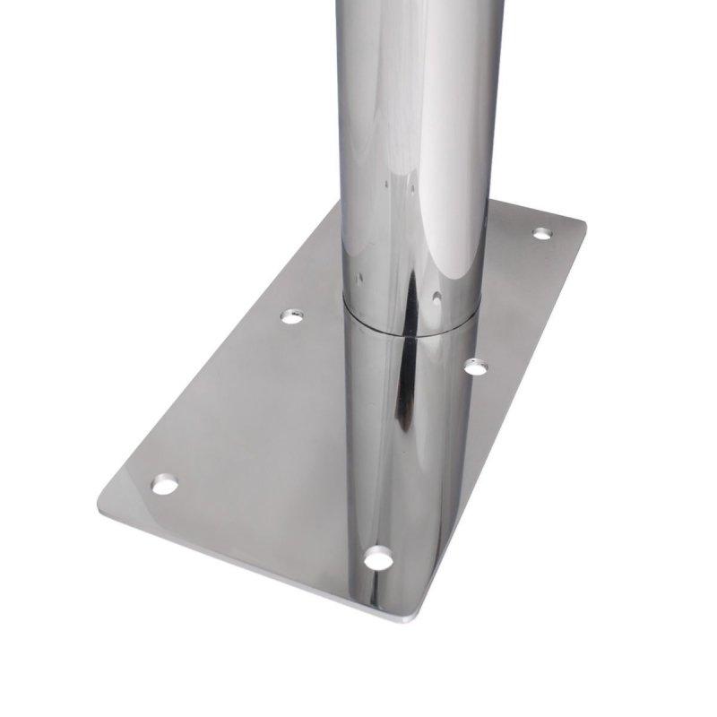 WC - Klappgriff freistehend für barrierefreies Bad aus rostfreiem Edelstahl 85 cm ⌀ 32 mm / ⌀ 50 mm