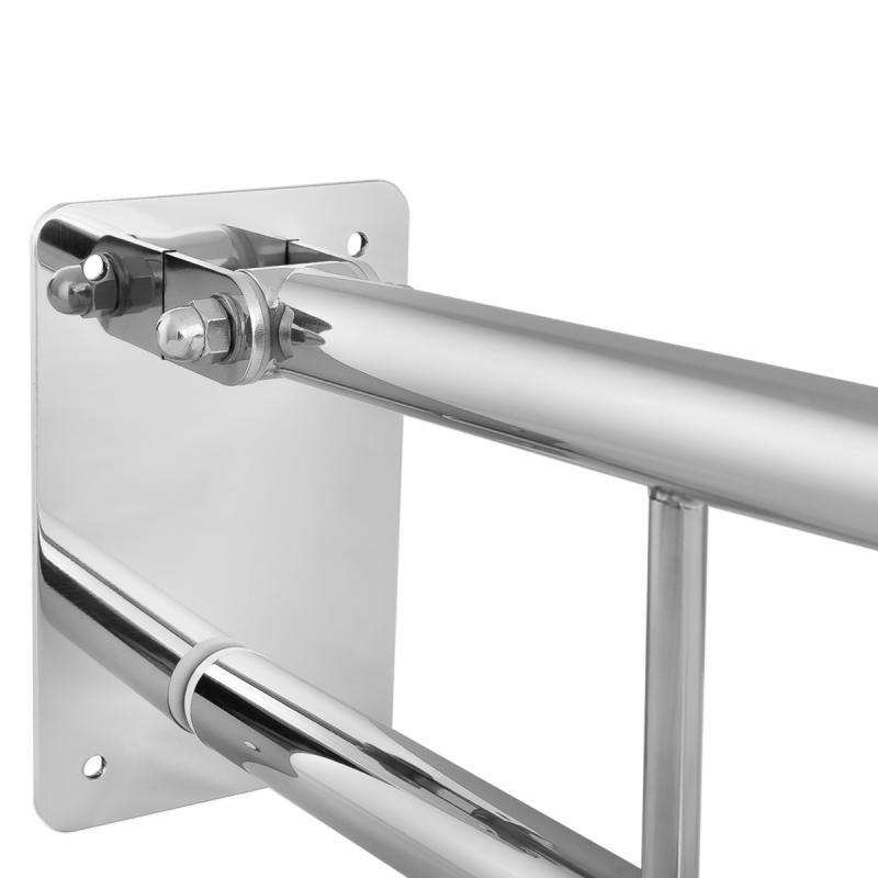 WC - Klappgriff für barrierefreies Bad 50 cm aus rostfreiem Edelstahl ⌀ 25 mm