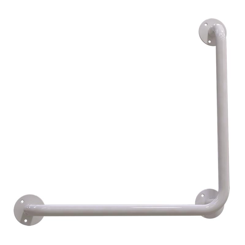 Winkelgriff 70/70 cm für barrierefreies Bad links/rechts montierbar weiß ⌀ 25 mm