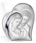 Św. Rodzina srebrny obrazek Ryngraf ślub chrzest