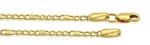 Złoty łańcuszek 585 splot figaro