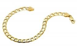 Złota bransoletka 585 pancerka