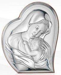 Matka Boska srebrny obrazek Ryngraf ślub chrzest