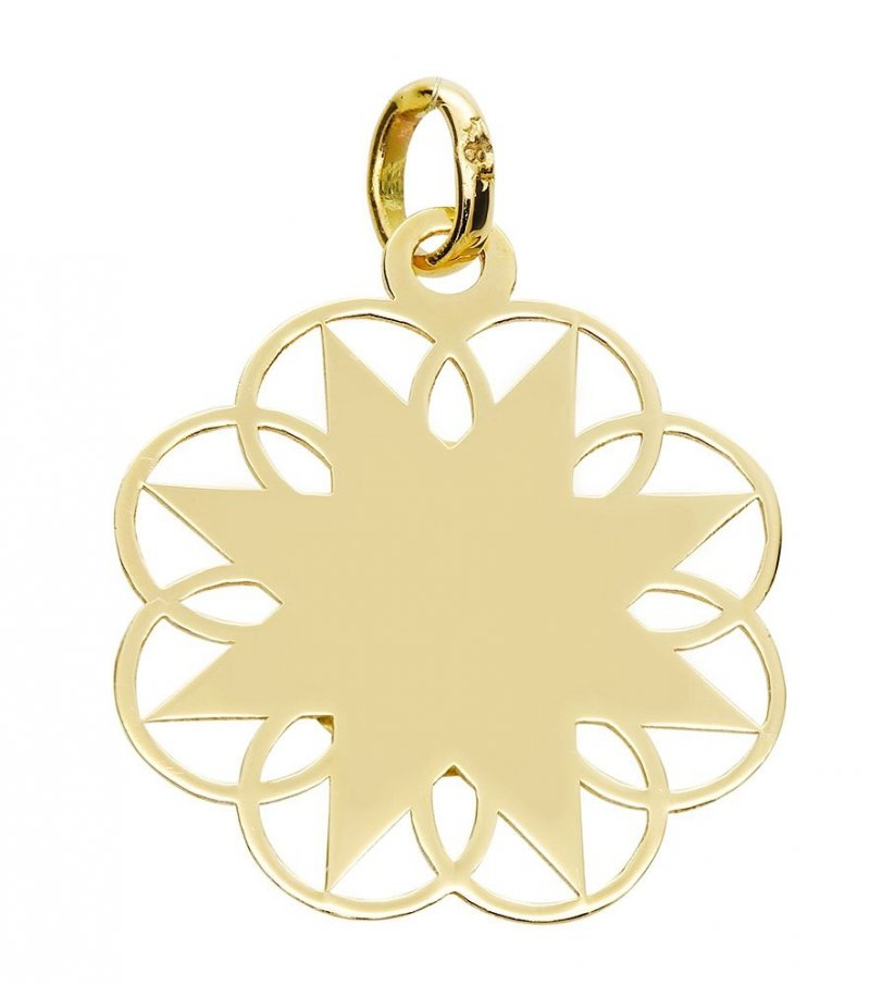 Medalik złoty 585 Matka Boska