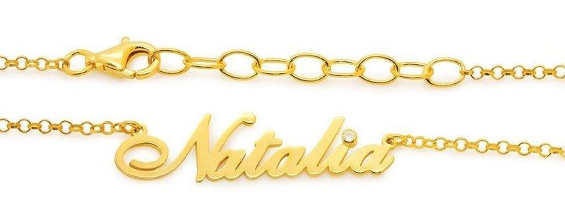 Naszyjnik z imieniem Natalia , dowolne imiona