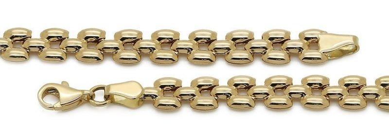Złota bransoleta 585 ryżowe ziarenka