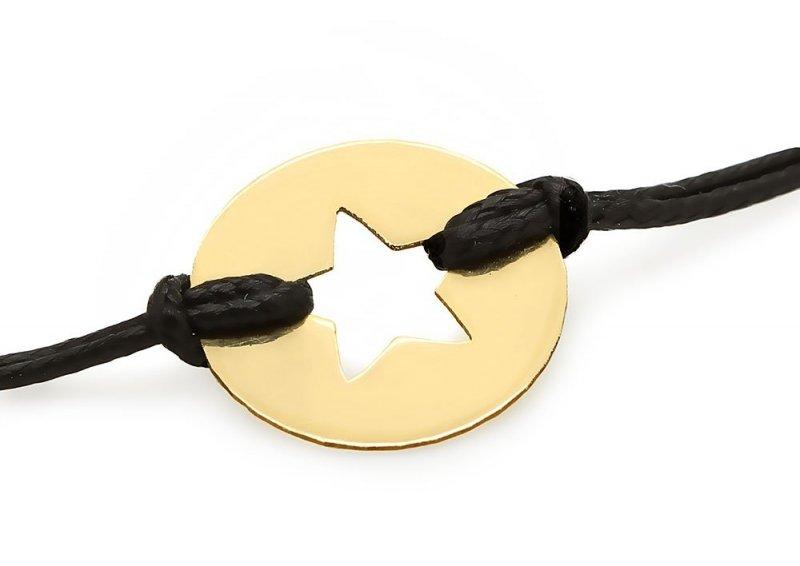 Złota bransoletka 585 gwiazdka