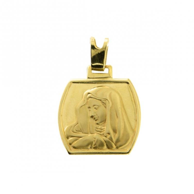 Złoty medalik Matka Boska złoto 585 wisiorek zawieszka