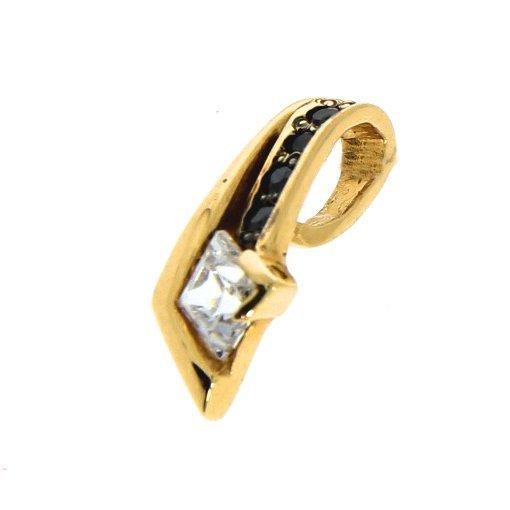 Zawieszka łezka z cyrkoniami złoto 585