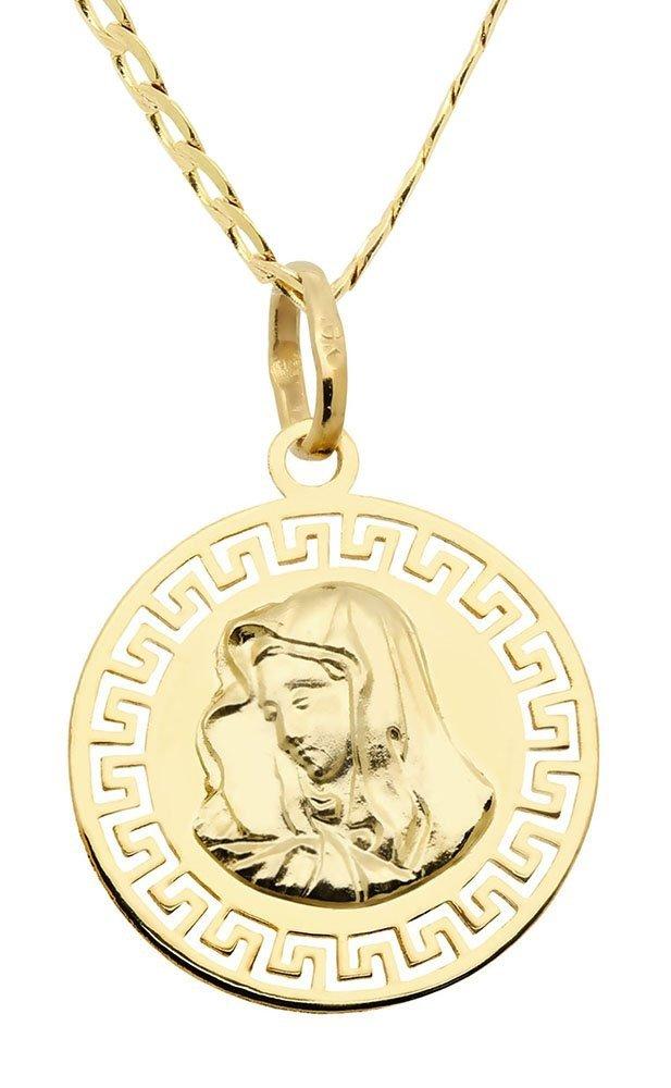 Komplet komunijny złoty medalik na łańcuszku