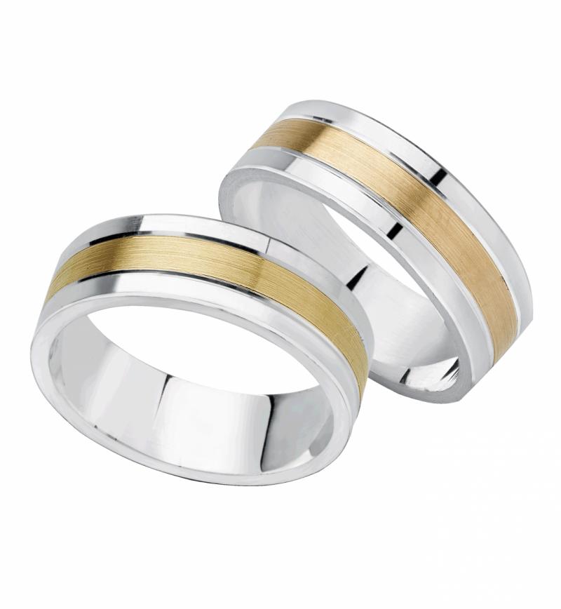 Srebrne złote obrączki 925 585 złoty pasek matowany GRAWEROWANE ślubne