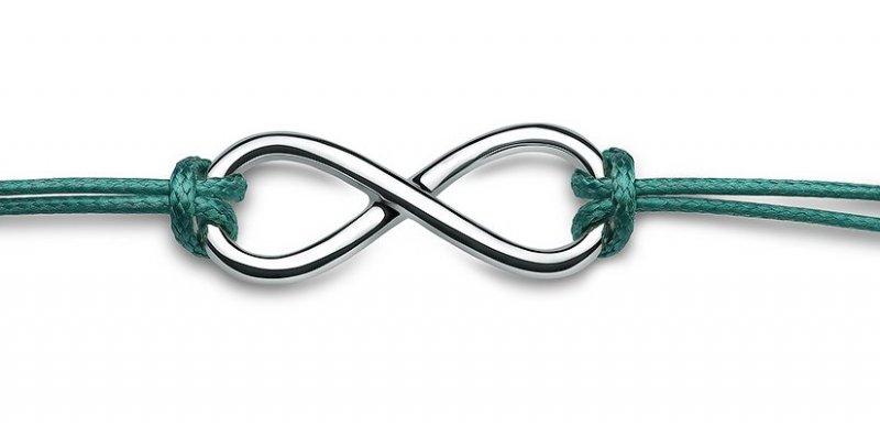 Bransoletka infinity nieskończoność ósemka