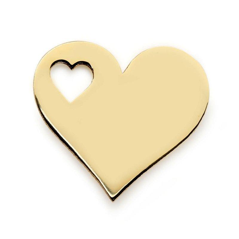 Złota zawieszka 585 serduszko do celebrytki   celebrytka serce
