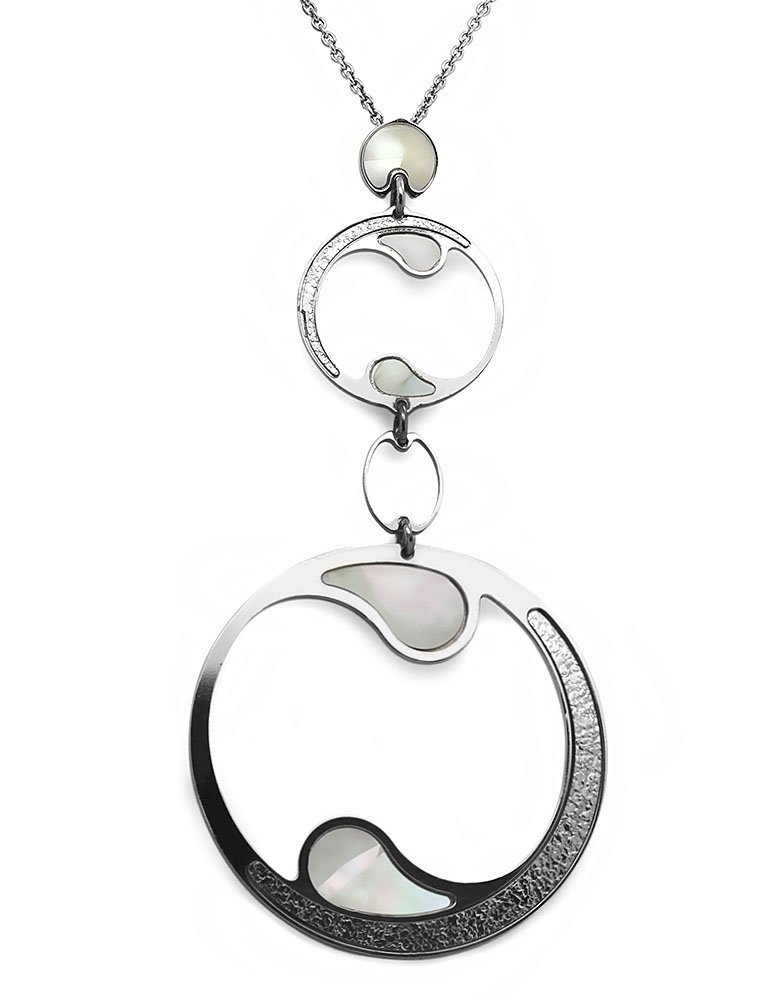 Srebrny naszyjnik 925 z masą perłową