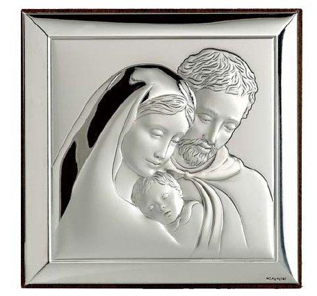 Święta Rodzina srebrny Ryngraf ślub chrzest