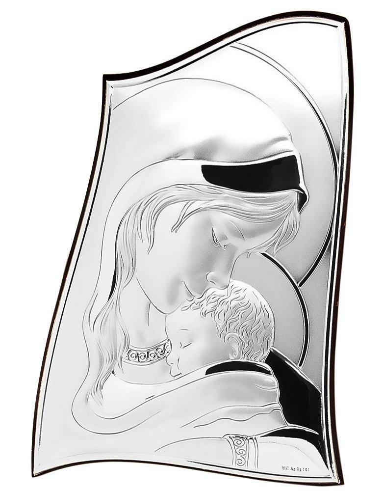 Matka Boska Srebrny Ryngraf ślub chrzest nowość
